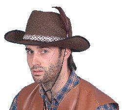 Cowboy Brown Felt Hat Dallas Style