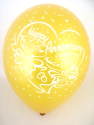 """Balloons 'HAPPY ANNIVERSARY' Gold 12"""" Bag Of 25"""