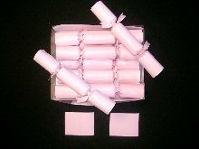 Wedding Crackers In Pink With Pink Ribbon Attached