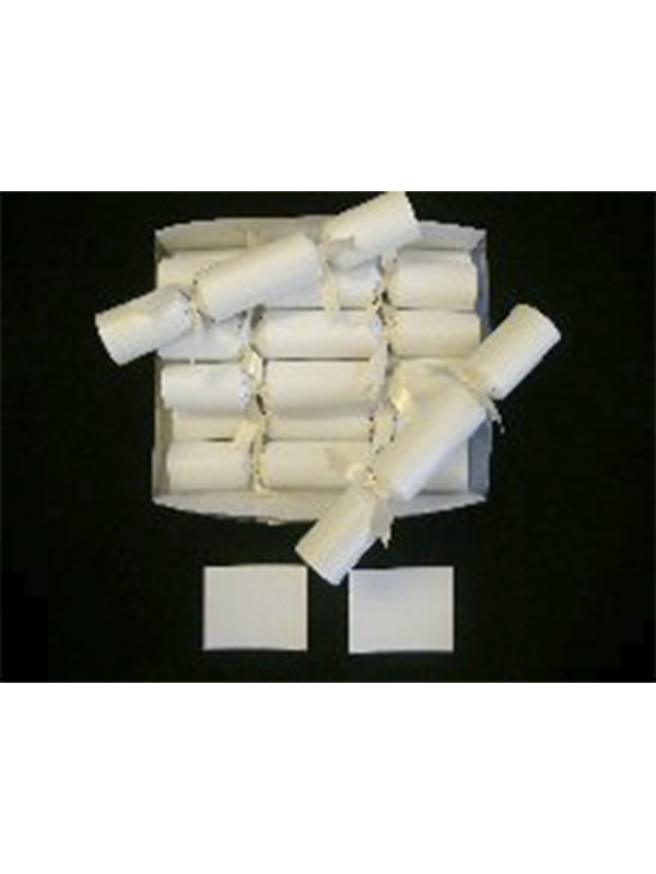 Wedding Crackers In Cream With Ivory Ribbon Attached (pack of 10)
