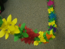 Decoration 'Flower' Assorted Colour Garland  (1)