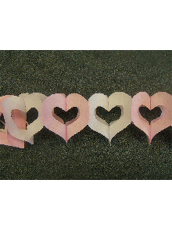 Decoration Heart's Alternate Pink & White Colour Garland 3m (13ft) (1)