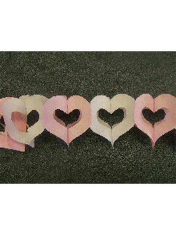Decoration Heart's Alternate Pink & White Colour Garland 3m (13ft) (1)