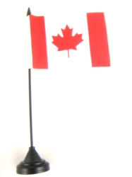 Canada Table Flag with Base and Stick