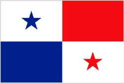 Panama Flag 5ft x 3ft With Eyelets For Hanging