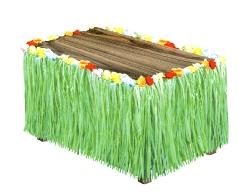 Hawaiian Decoration Artificial Grass Table Skirting