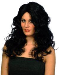 Glamour Wig,Black Long Curls (Quantity 1)