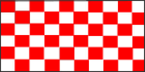 Check Red & White Flag 5ft x 3ft With Eyelets For Hanging