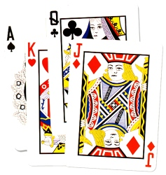 Playing Card Sign Cutouts (4 in a pack)