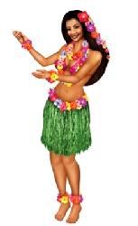 Hawaiian Jointed Hula Girl Cutout