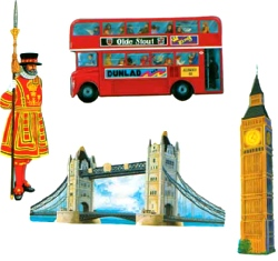 British Cutouts Printed On Both Sides 40.64 cm (4 In A Pack)