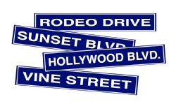Hollywood Street Sign Cardboard Cutouts