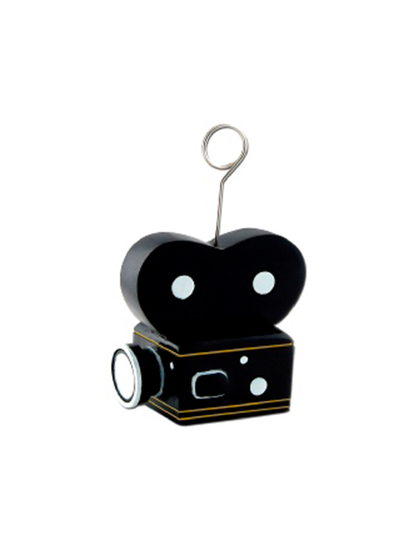 Balloon Weight/Photo Holder Camera Black And Gold