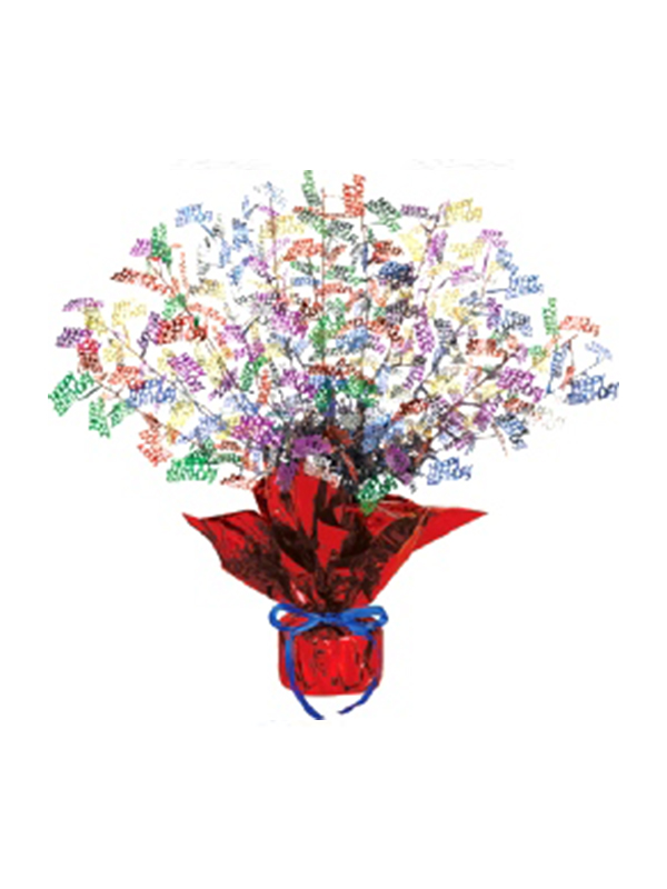 Birthday Gleam 'N' Burst Centrepiece Multi-Coloured (Quantity 1)