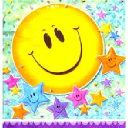Smiley Stars Party Napkins 16 three-ply