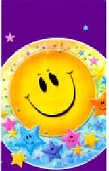 """Smiley Stars Party Plastic Leak-Proof Tablecloth Size 54"""" x 96""""."""