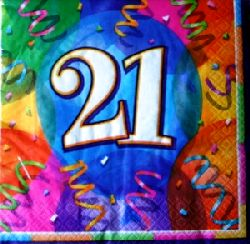 21st Birthday Brilliant Party Napkins