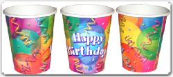 Brilliant Birthday  Party Cups Pack Of 8