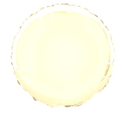 Foil Balloon Round Solid Metallic Ivory