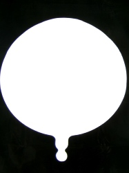 Foil Balloon Round Solid Metallic White