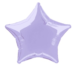Foil Balloon Star Solid Metallic Lavender