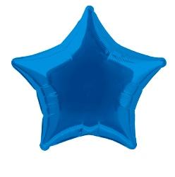 Foil Balloon Star Solid Metallic Royal Blue