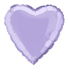 Foil Balloon Heart Solid Metallic Lavender