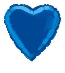 Foil Balloon Heart Solid Metallic Royal Blue