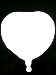 Foil Balloon Heart Solid Metallic White