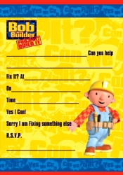Bob The Builder Invitation Pad And Envelopes