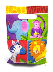 Jungle Party Loot Bags 8 Pack