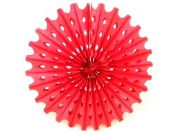 Decoration Big Sun Red Honeycomb Hanging Fan