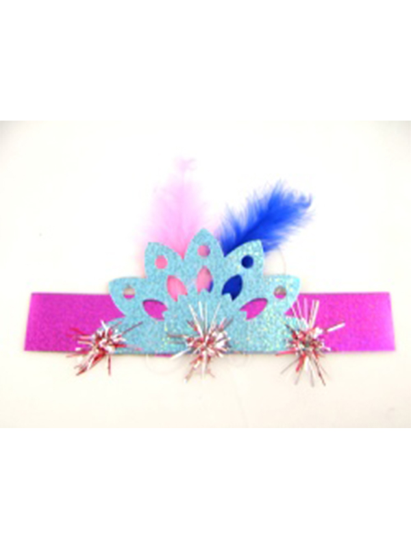 "Holographic Fringed Tiara 8"" Assorted Colours"