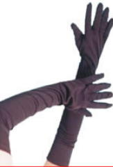 Frank 'N' Furter Elbow Length Gloves In Black