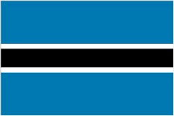Botswana Flag 5ft x 3ft With Eyelets For Hanging
