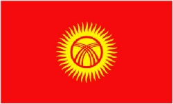 Kyrgyzstan Flag 5ft x 3ft With Eyelets For Hanging