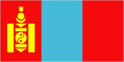 Mongolia Flag 5ft x 3ft  With Eyelets For hanging