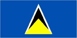 St. Lucia Flag 5ft x 3ft