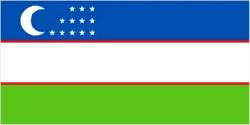 Uzbekistan Flag 5ft x 3ft With Eyelets