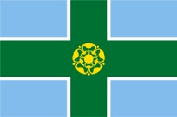 Derbyshire Flag 5ft x 3ft  With Eyelets For Hanging