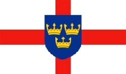 East Anglia Flag 5ft x 3ft With Eyelets For Hanging
