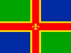 Lincolnshire Flag 5ft x 3ft With Eyelets For Hanging