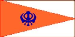 Sikh Flag 5ft x 3ft Rectangular shape With Eyelets