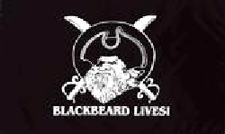 Blackbeard Lives Pirate Flag 5ft x 3ft  With Eyelets For Hanging