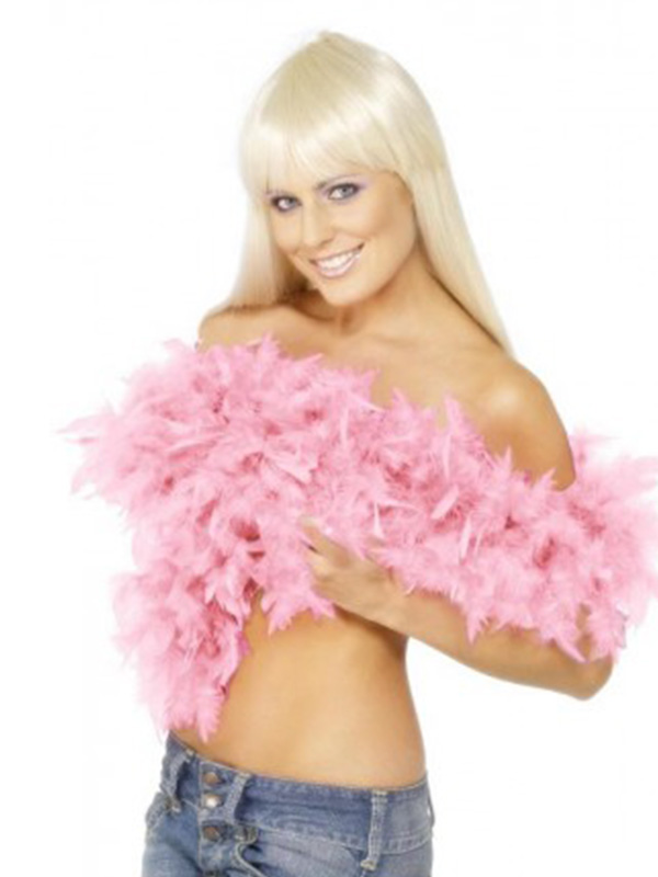 Feather Boa Deluxe Double Thickness (100 grammes) (1) Pink
