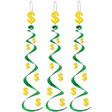 Dollar Sign Whirl Decoration