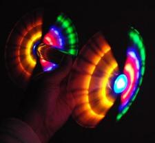 Large Double Rainbow Spinner