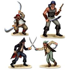 Pirate And Bandit Duelling Props (3 In A Pack)