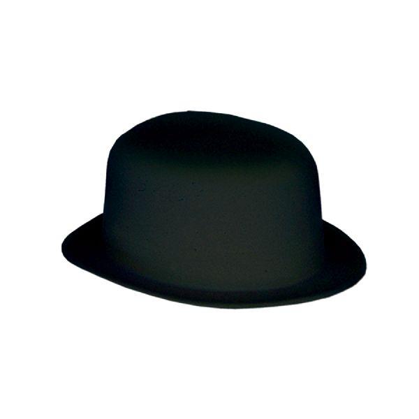 Flocked Bowler Hat