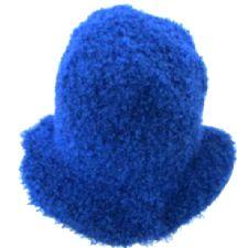 Flower Power Felt Hat - Blue
